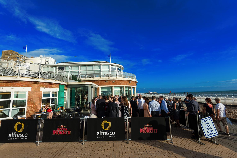 wedding drinks Brighton seafront