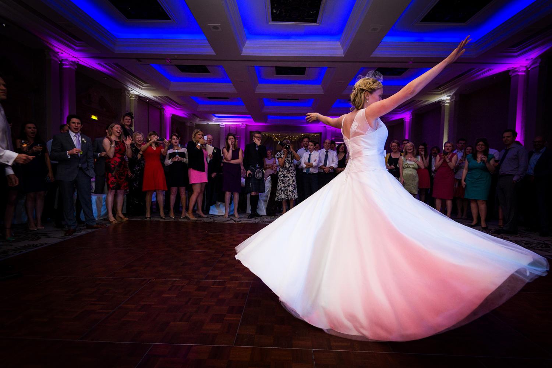 beautiful photo of bride dancing
