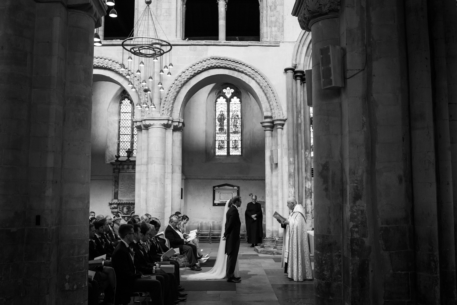 wedding ceremony at Rochester Cathedral