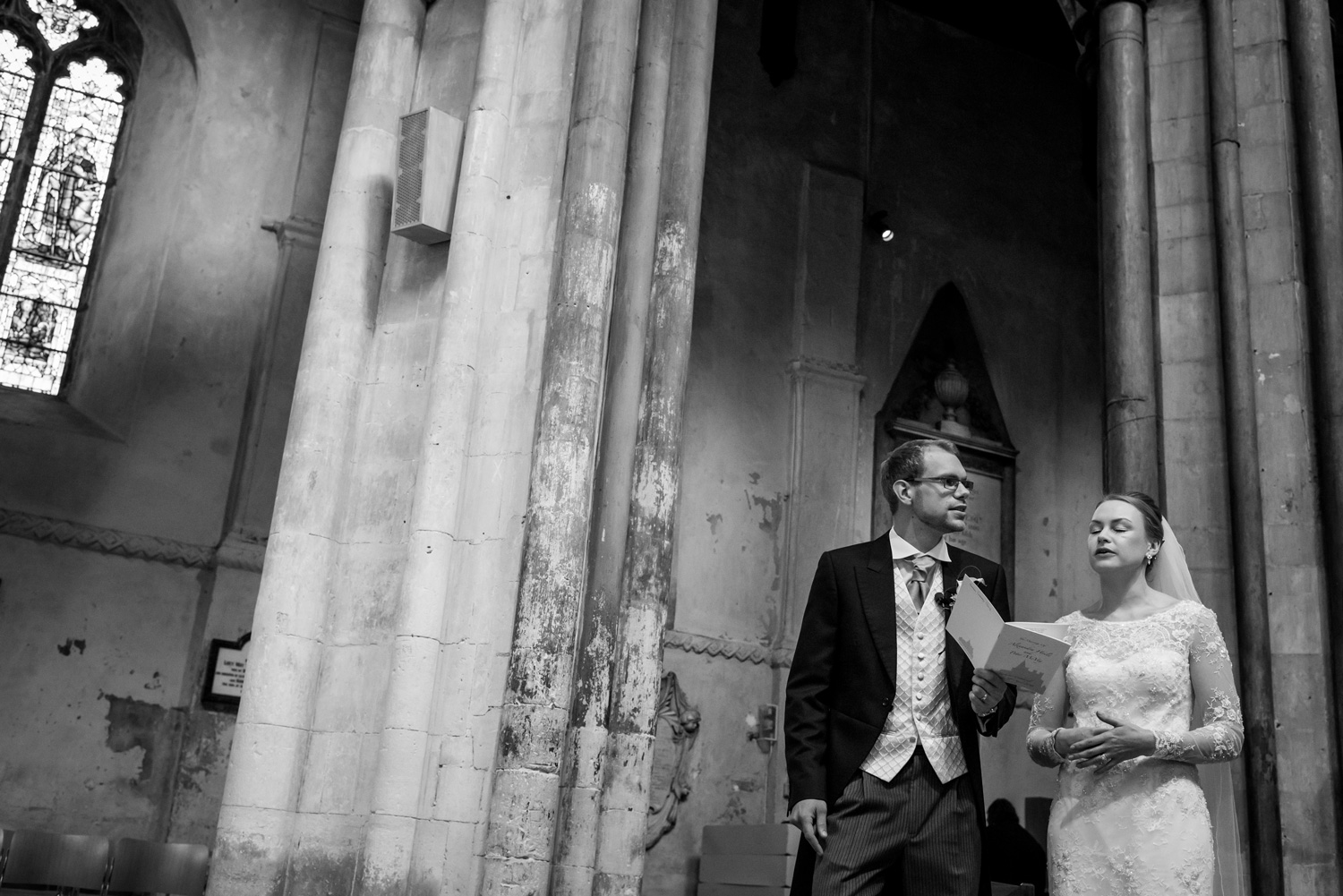 Rochester Cathedral wedding