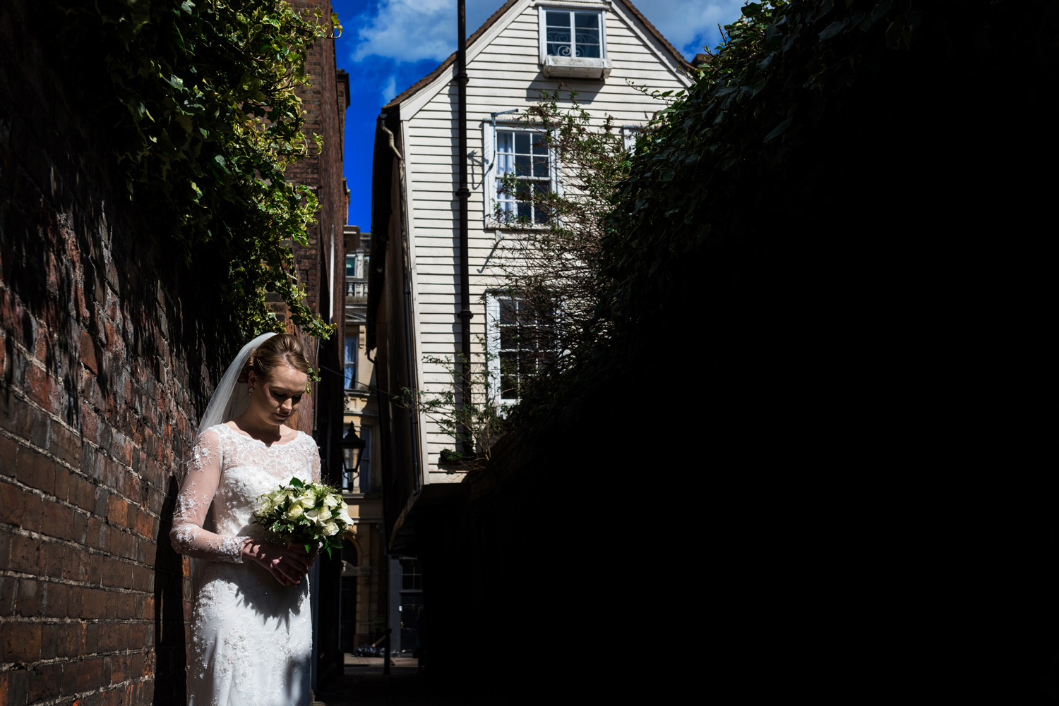 portrait of bride in Rochester