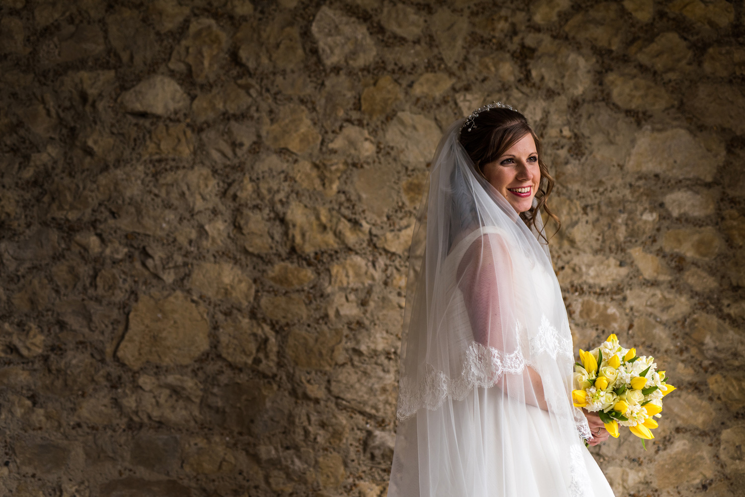 portrait of bride at Lympne Castle