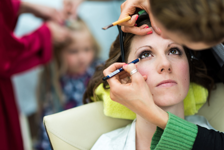 Brides eye makeup
