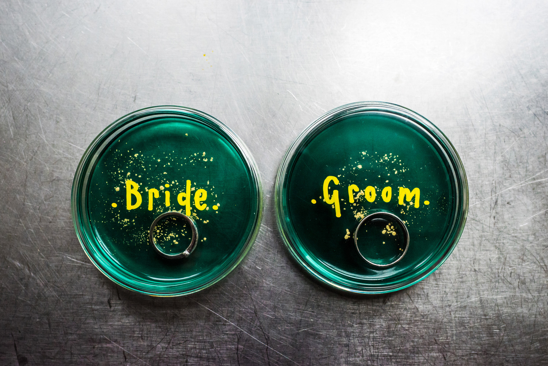 cool wedding ring shot