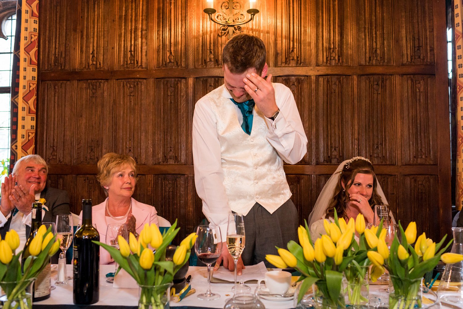 tearful groom