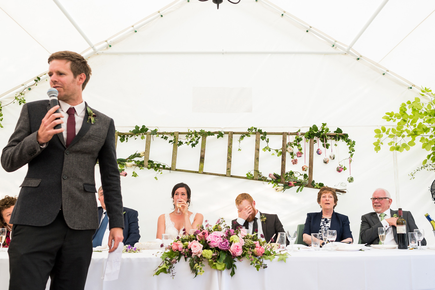 marquee wedding speeches