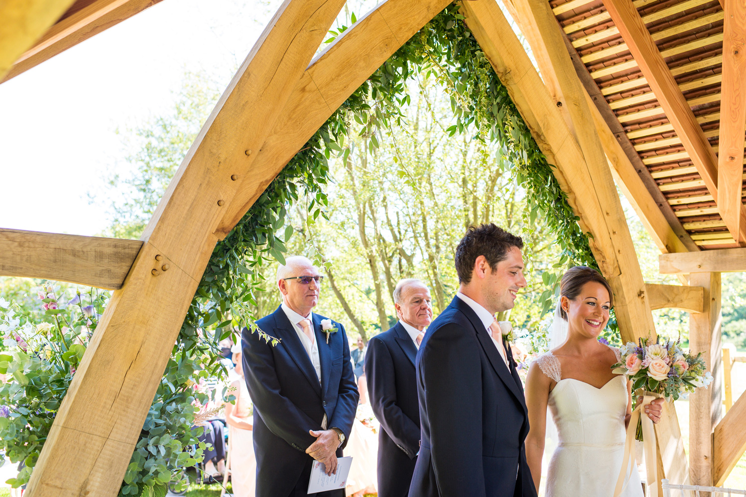wedding ceremony at Millbridge court