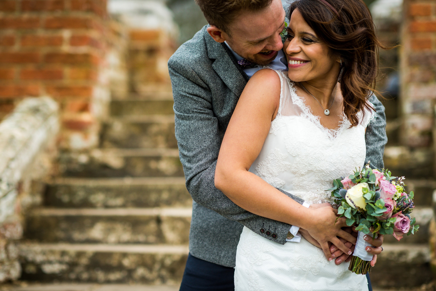 Bride and groom at Ufton court