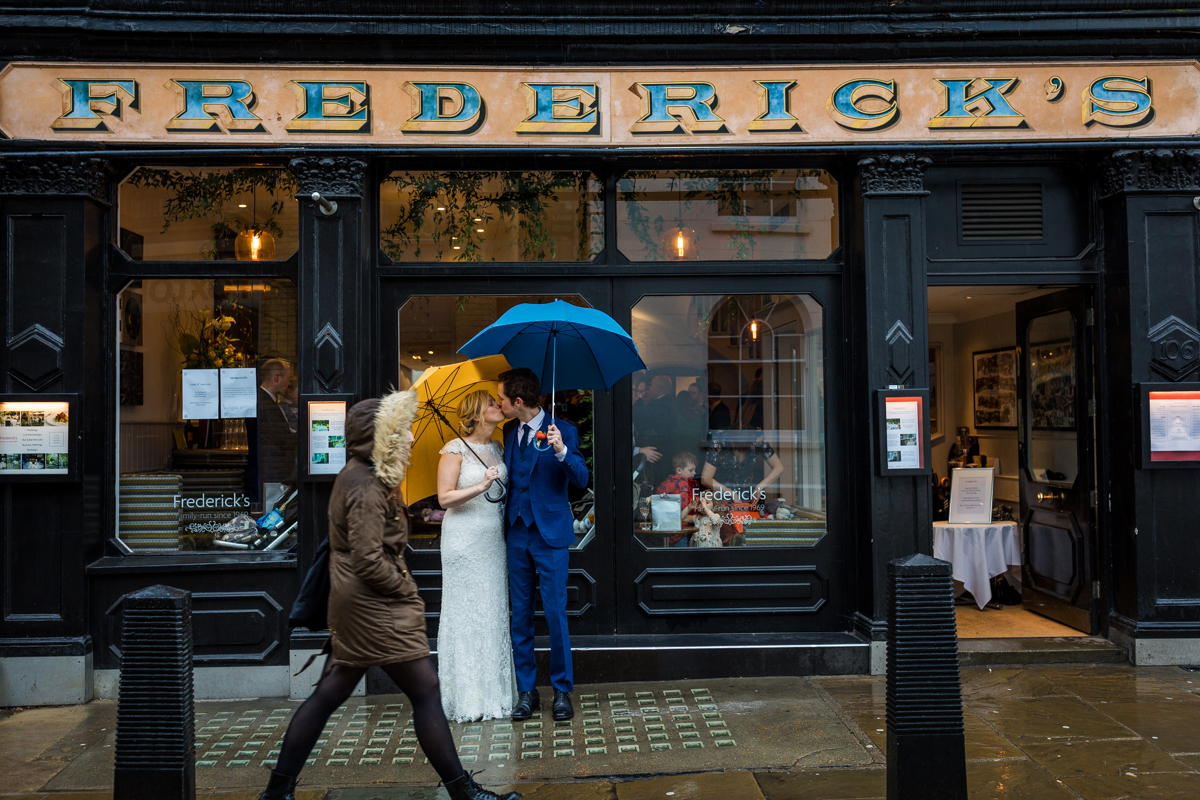 Wedding at Fredericks, Islington