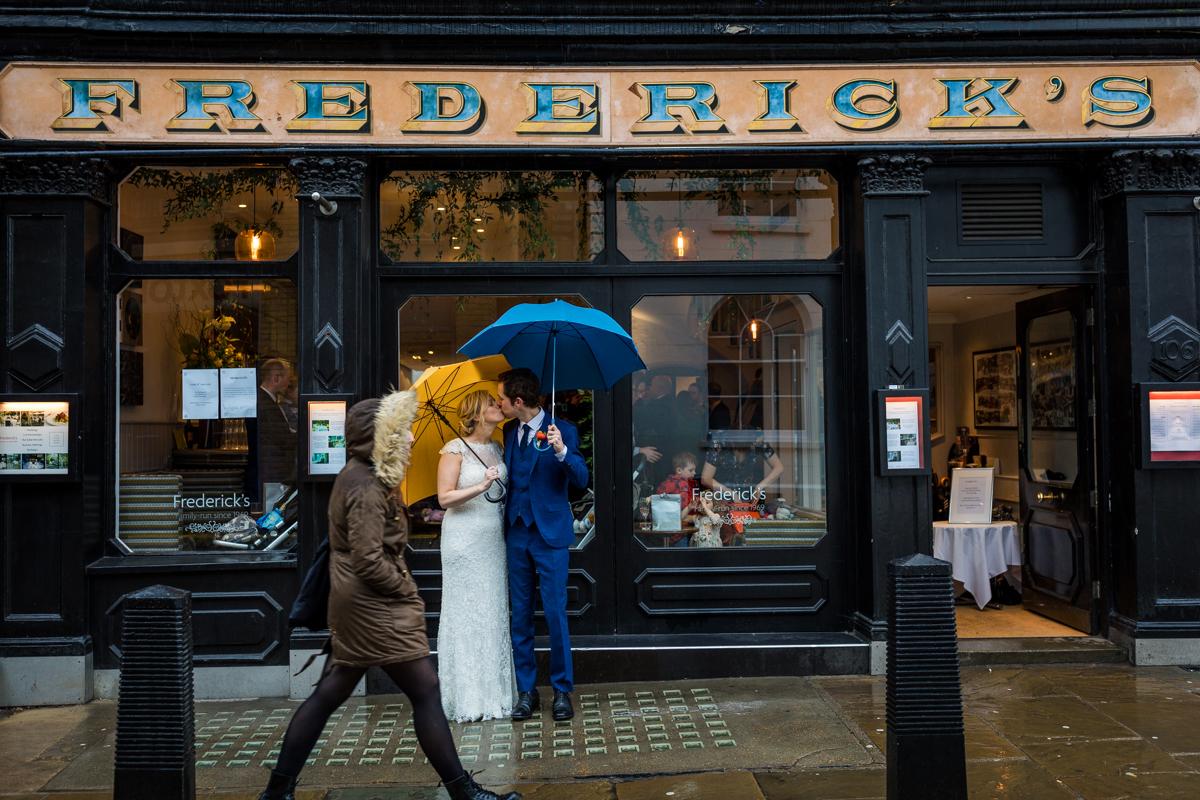 Wedding at Fredericks, Islington